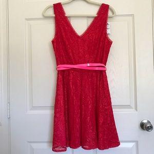 Express Res Size 10 Red V-Neck Dress 👗